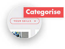 Categorising your skills in cv- CV+